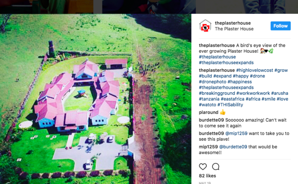 Plaster House expansion Instagram photo
