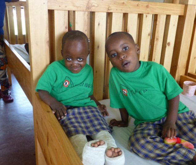 Kids after surgery at Plaster House