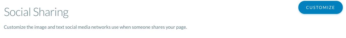Screenshot of Social Sharing setting