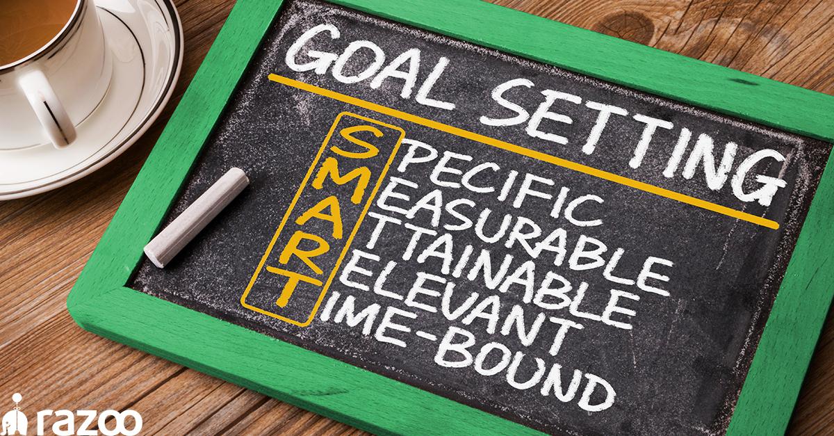 "Slate board with ""SMART goals"" defined in chalk"