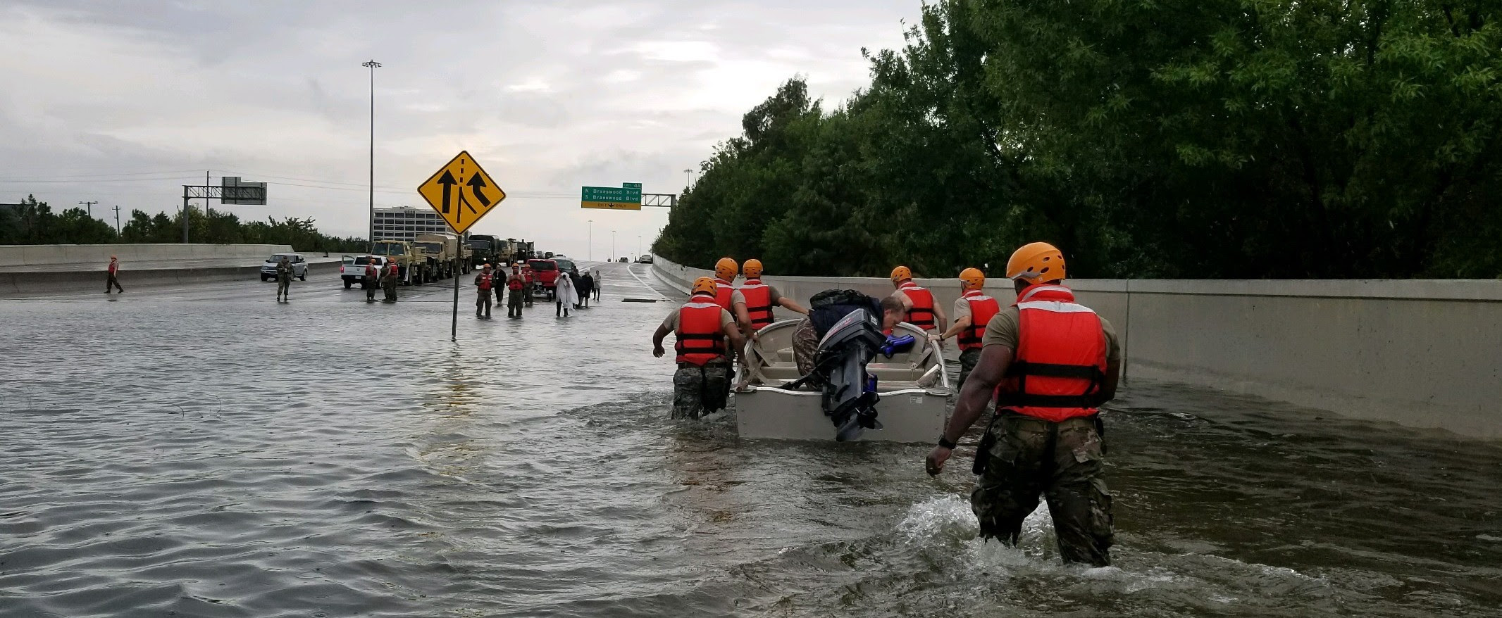 Hurricane Harvey relief underway