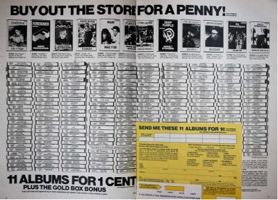 Image of Columbia Record and Tape Club print ad