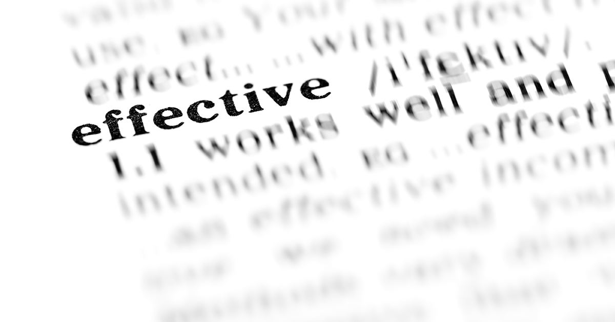 dictionary definition of the word effective