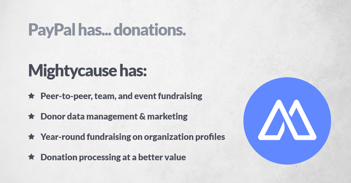 The Problem With The Paypal Donate Button Mightyblog Fundraising Content By Mightycause