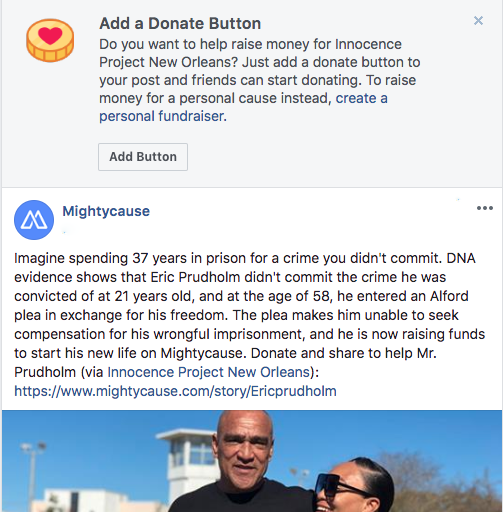 facebook fundraising targeting donors