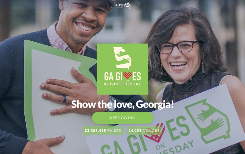 screenshot of the ga gives site