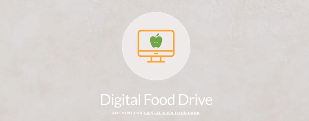 screenshot of Capital Area Food Bank's virtual food drive