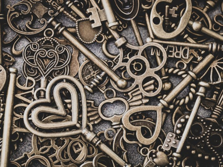 giving event fundraising: collage of keys