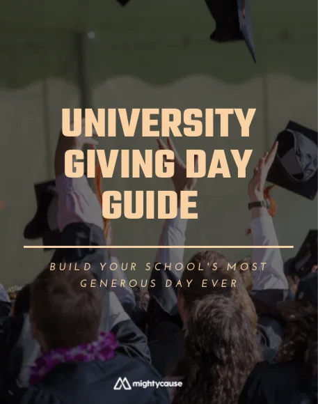 university giving day guide ebook cover