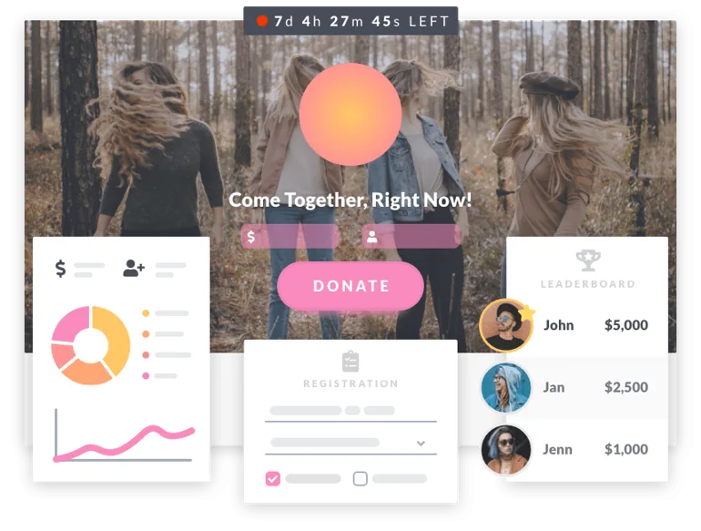 giving days: a mock-up of a giving day site on mightycause