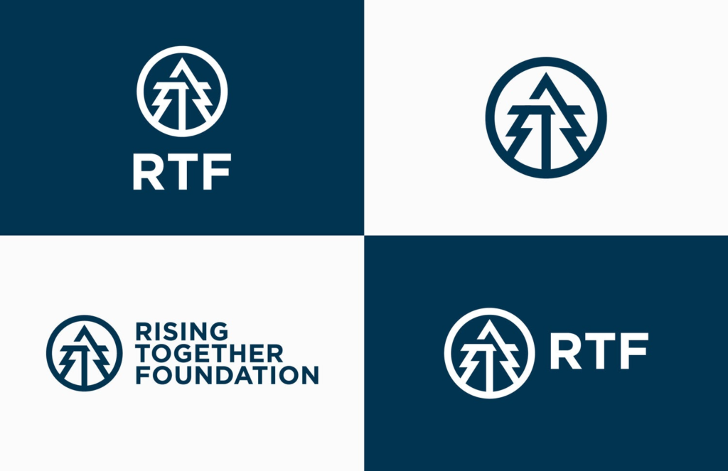 rising together foundation's logos