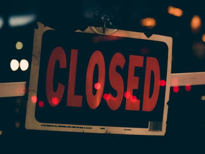 gofundme charity blog post closed sign