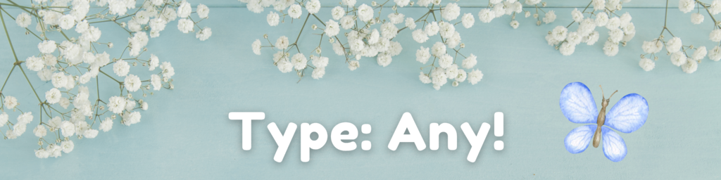 spring fundraiser graphic: type - any
