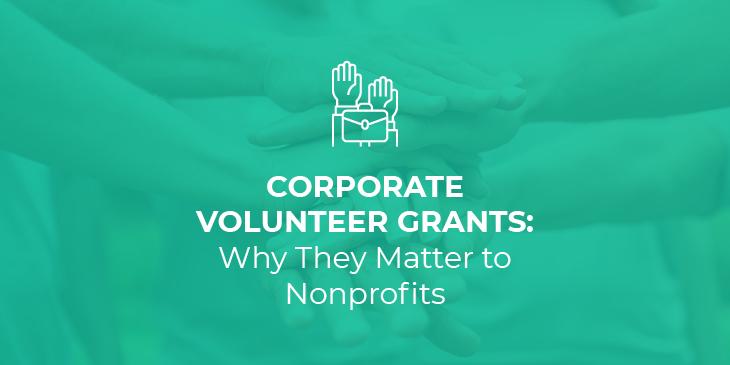 corporate volunteer grants: title image