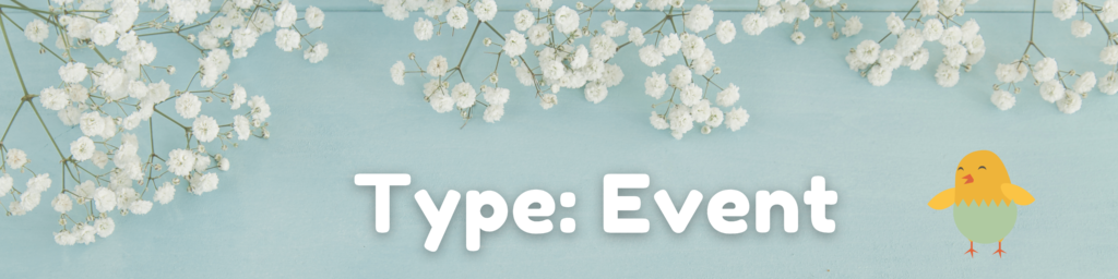 spring fundraiser graphic: type - event