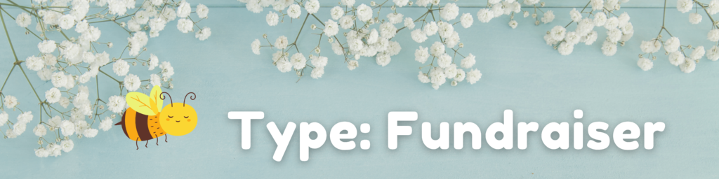 spring graphic: type - fundraiser