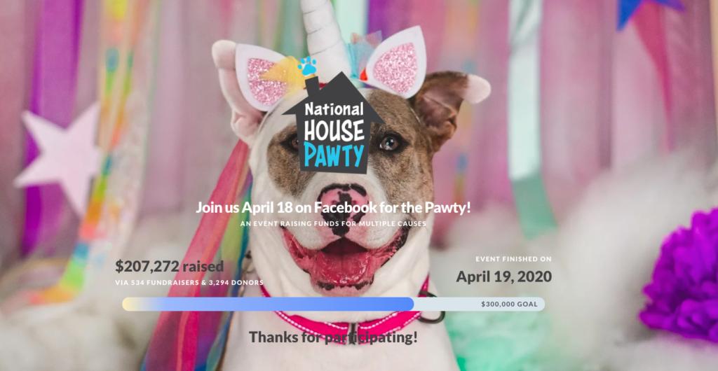 spring fundraiser ideas: house pawty screenshot
