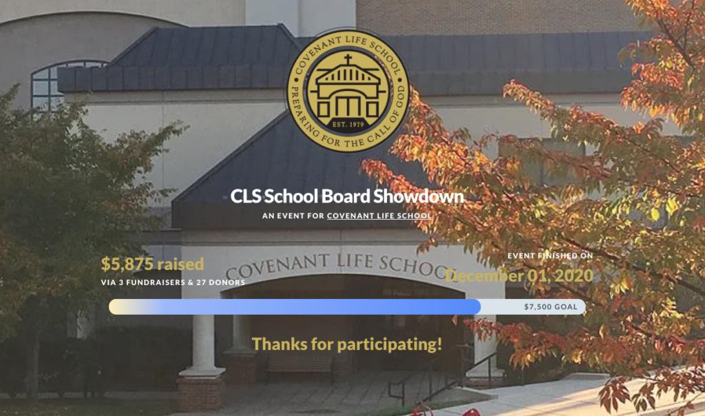 spring fundraiser ideas: cls board showdown