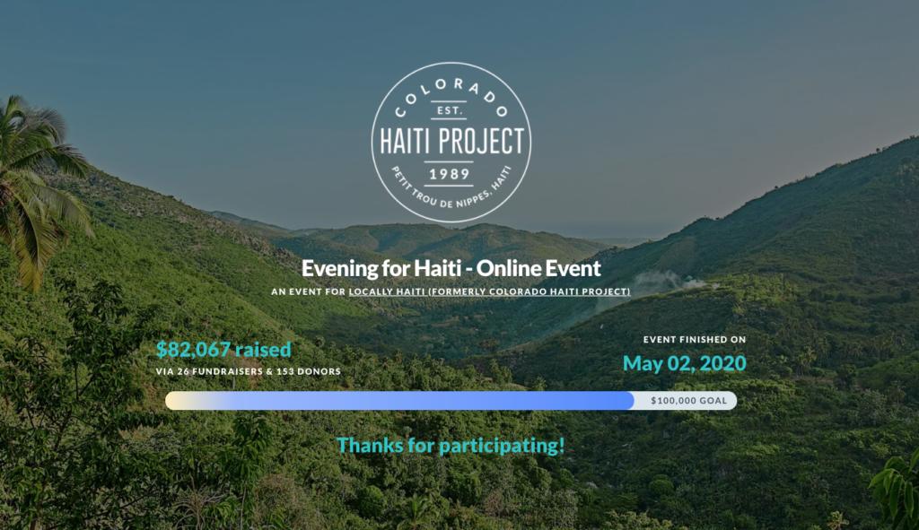 locally haiti virtual gala